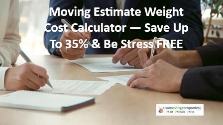 Moving Estimate Weight Cost Calculator