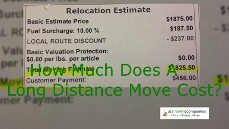how much does a long distance move cost