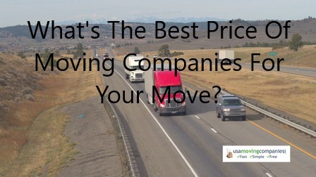 prices of moving companies