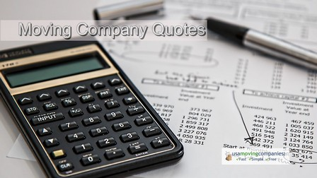 professional movers cost estimate